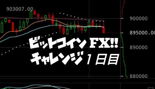 初心者ビットコインFXチャレンジ企画【1万円から100万円へ】素人が出来るのか!?(1日目)